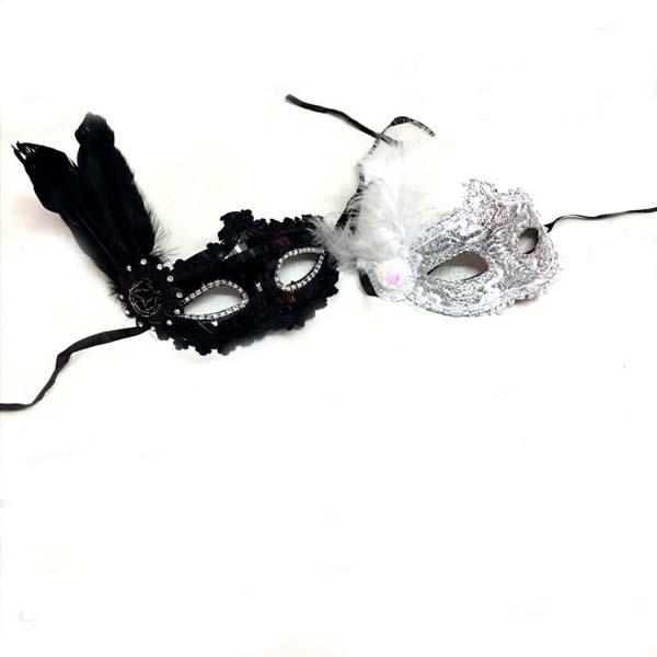 نقاب بالماسکه گیپور با طرح پر